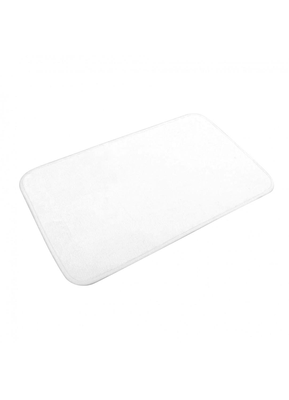 Tapis de Bain Uni en Microfibre  (Blanc)