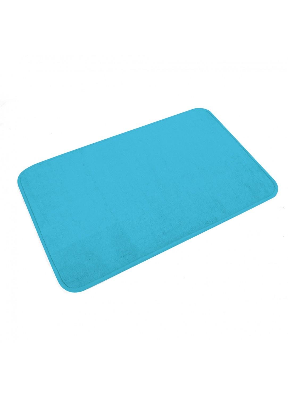 Tapis de Bain Uni en Microfibre  (Bleu océan)