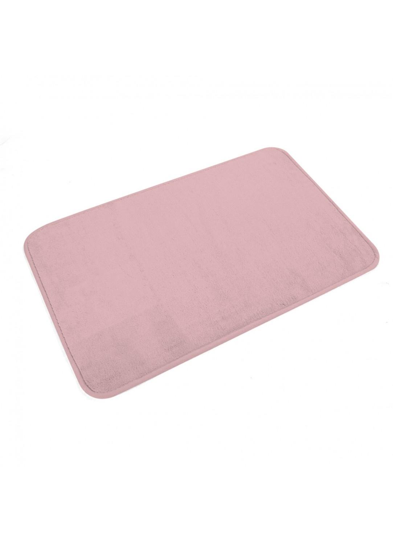 Tapis de Bain Uni en Microfibre  (ROSE POUDRE)