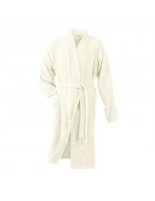 Peignoir Uni Col Kimono en Eponge (Naturel)