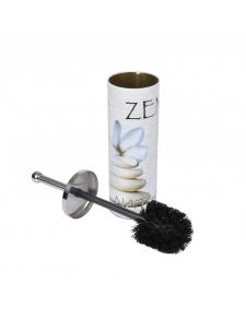 Pot et Brosse en Métal à Motifs Zen