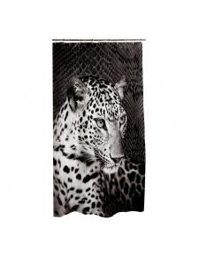 Rideau de Douche Design en Polyester (Noir)