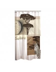 Rideau de Douche Design en Polyester (Blanc)
