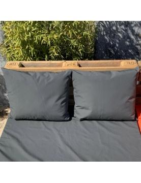 Ensemble de 2 coussins outdoor pour salon palette