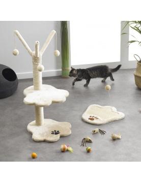 Arbre à chat avec boules en sisal