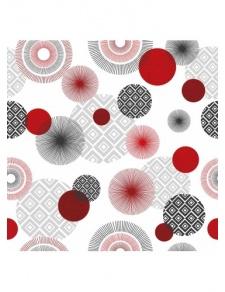 Toile cirée imprimée de cercles stylisés
