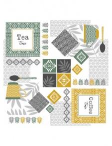 Toile imprimée tea time