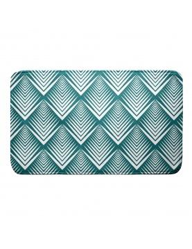 Tapis de bain en microfibre à motifs géométriques