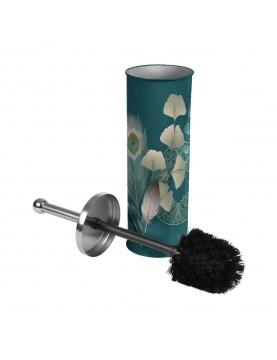 Brosse wc en métal ginkoblue