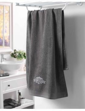 Drap de bain brodé vintage