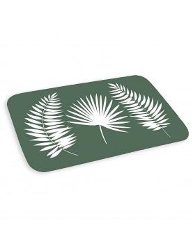 Tapis de bain imprimé trio de feuilles