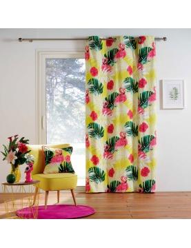 Rideau en coton aux coloris flamboyants