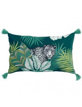 Coussin à pompons esprit jungle