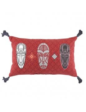Coussin à impressions tribales