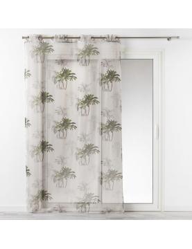 Voilage aux impressions de palmiers verdoyants