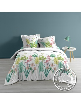 Parure de lit herbier coloré