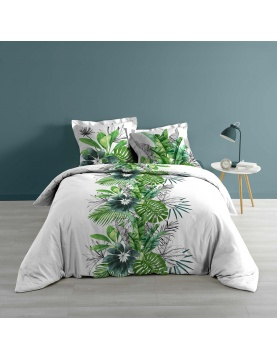 Juego de cama jungla verde