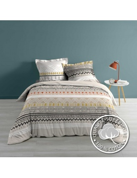 Juego de cama con motivos geométricos