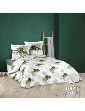 Juego de cama con palmeras verdes