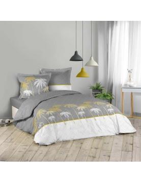 Parure de lit aux palmiers or