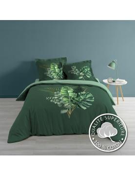 Juego de cama con ramo vegetal
