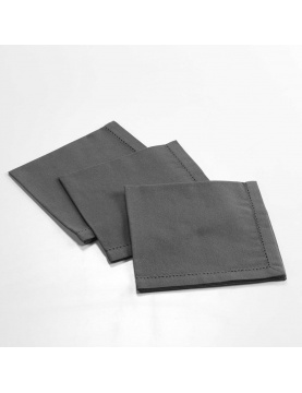 Ensemble de 3 serviettes de table unies