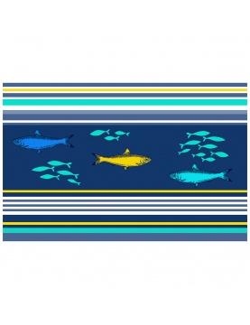 Mantel individual estampado peces colorados