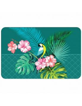 Mantel individual con impresiones tropicales