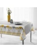 Mantel rectangular con palmeras de oro