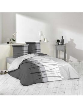 Parure de lit en camaieu de gris