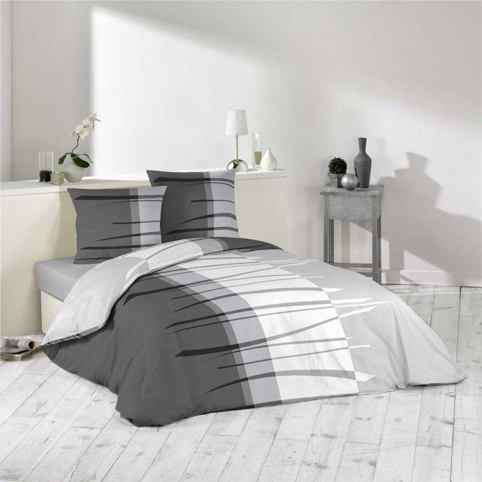 Parure de lit en camaieu de gris (Gris)