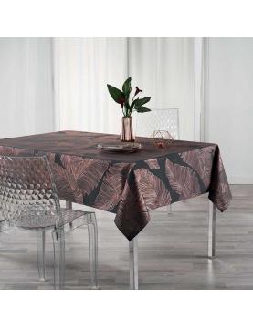 Mantel rectangular hojas metalizadas