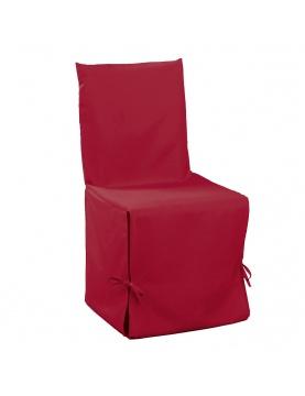 Housse de chaise unie à nouettes