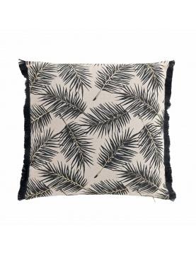 Coussin feuilles de palmier dorées