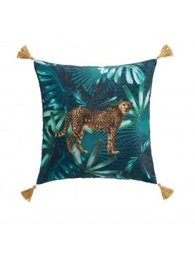 Coussin jungle avec guépard