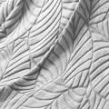 Plaid flanelle motif feuille  (Naturel)