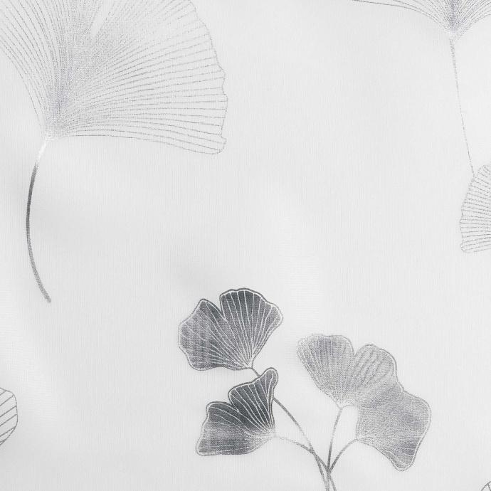 Voilage imprimé métallisé (Blanc/Argent)