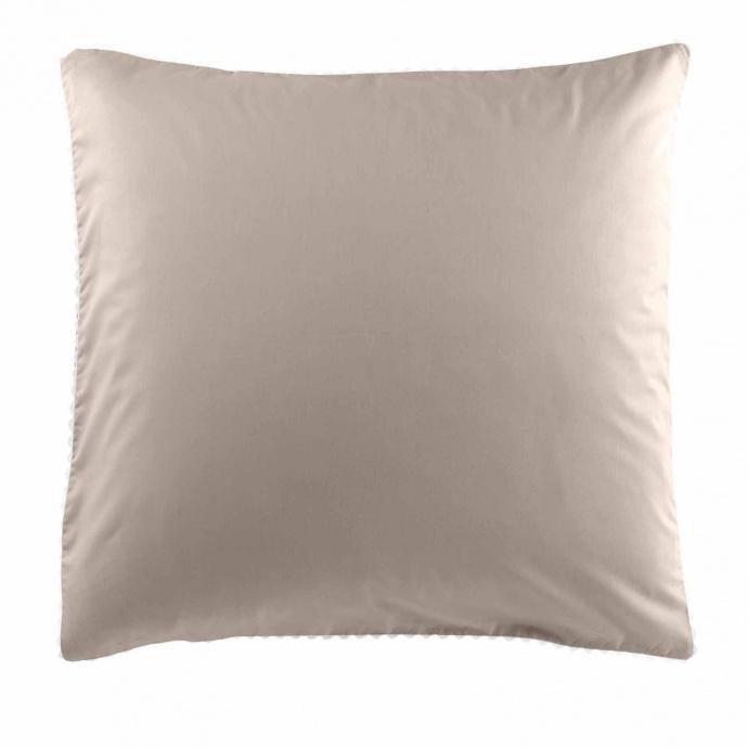 Parure de lit finition dentelle (Blanc/Gris)