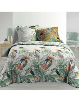 Parure de lit imprimé perroquet