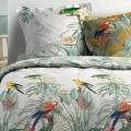 Parure de lit imprimé perroquet   (Multicolors)