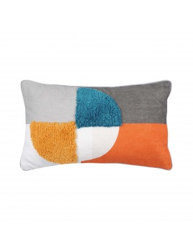 Coussin colorblock