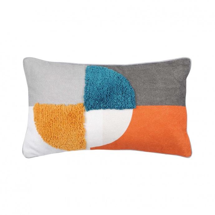 Coussin colorblock (Orange)