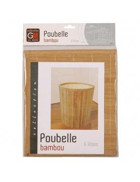 Poubelle ronde en bambou