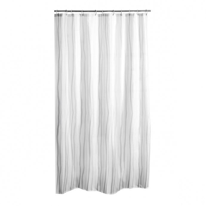 Rideau de douche à rayures 3 D (Blanc)