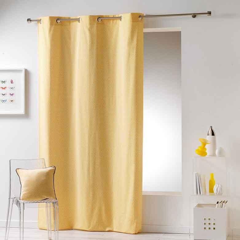rideau avec motif g om trique jaune indigo corail menthe gris anthracite. Black Bedroom Furniture Sets. Home Design Ideas