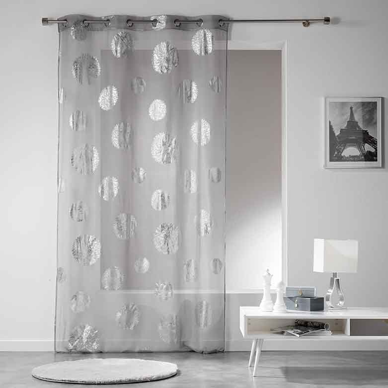 voilage imprim bombes d artifice gris anthracite blanc homemaison vente en ligne. Black Bedroom Furniture Sets. Home Design Ideas
