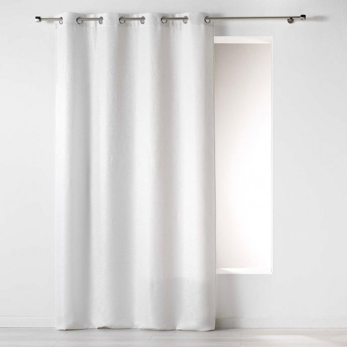 Rideau à Jacquard Discret (Blanc)