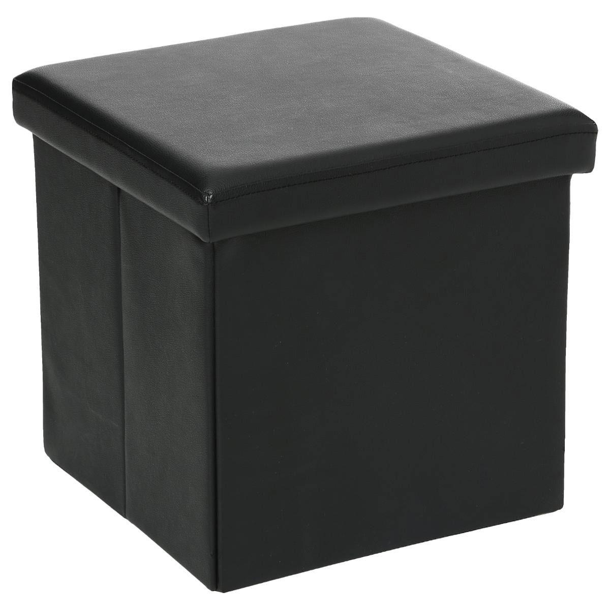 Pouf Pliable en PVC (Noir)
