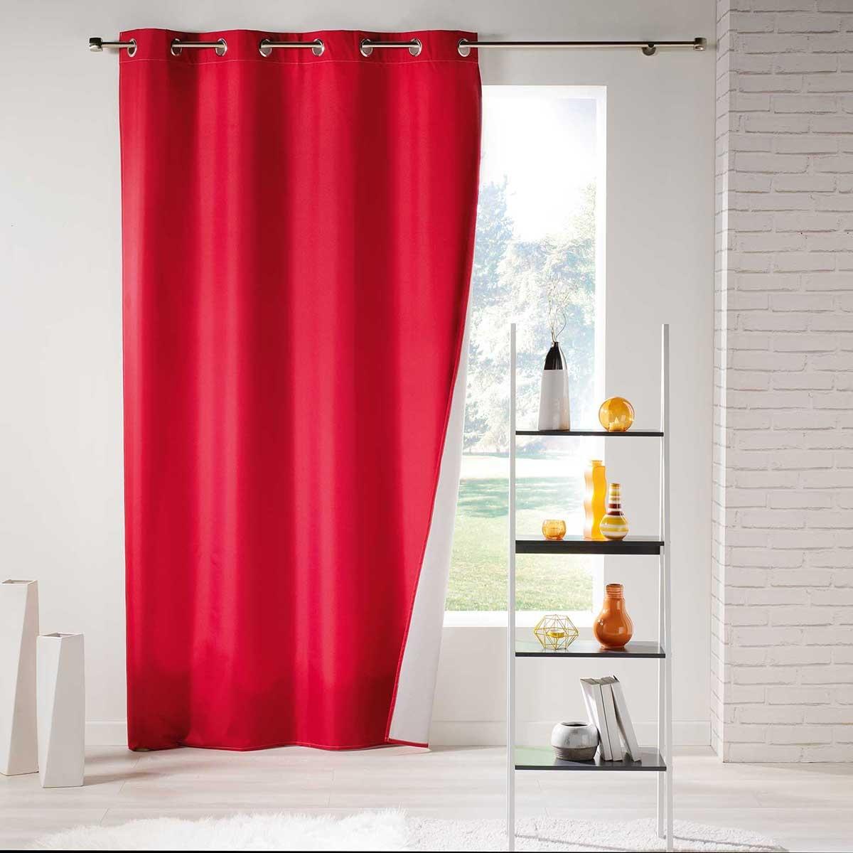 Rideau Uni Thermique (Rouge)