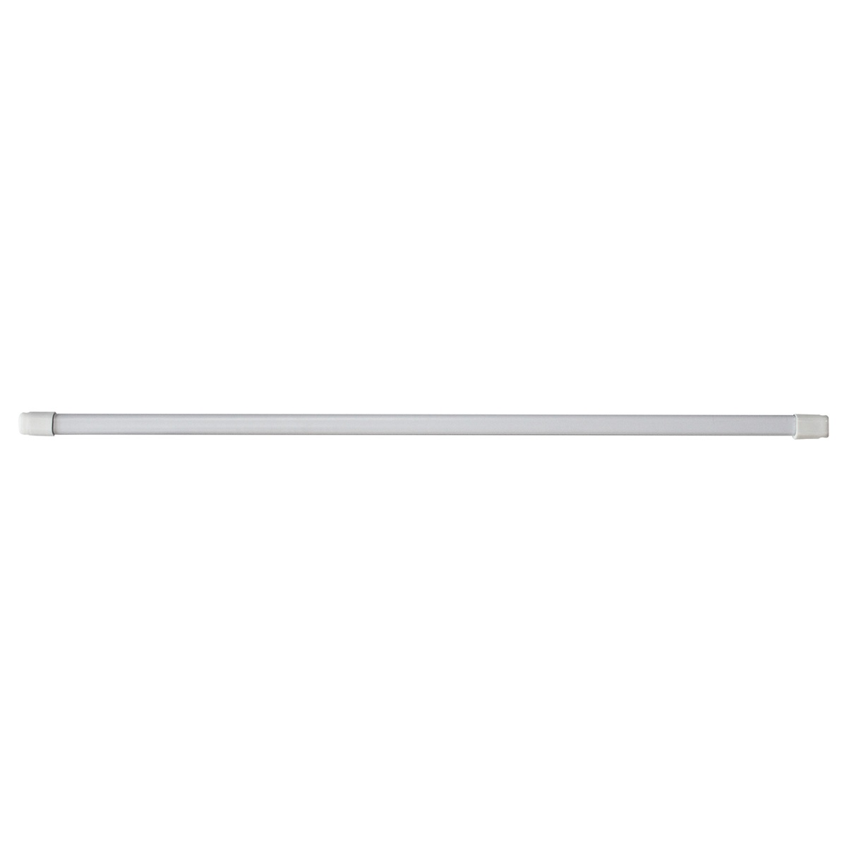 Lot de 2 Tringles Ovales Extensible de 11mm  (Blanc)